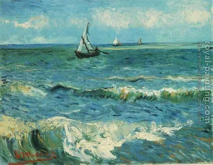 Vincent Van Gogh : Seascape at Saintes-Maries